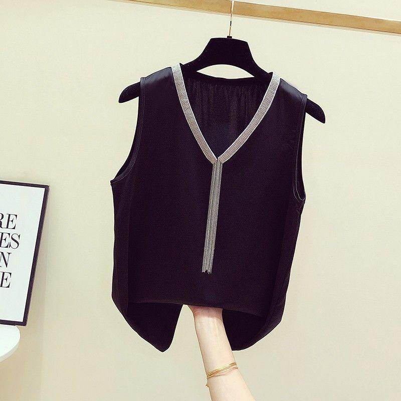 热卖新款吊带背心女外穿宽松性感无袖小背心西装内搭打底衫女洋气