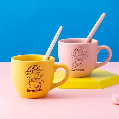 哆啦a梦马克杯卡通儿童可爱水杯子陶瓷情侣对杯早餐咖啡杯蓝胖子