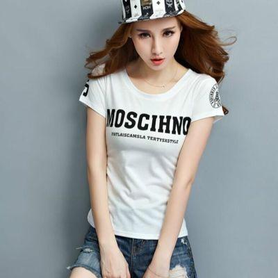 2015新款韩版体桖女式t血短装紧身短袖t桖女夏款女子丅恤打底衫潮