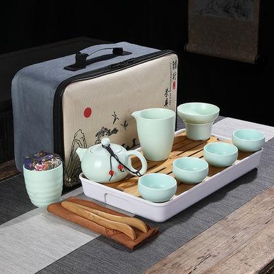 陶瓷旅行便携功夫茶具套装家用泡茶壶茶杯茶盘快客壶户外车载出差