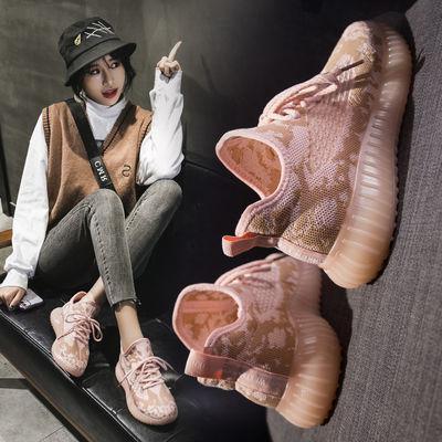 2020春夏透气舒适网面鞋女韩版百搭学生小白鞋运动休闲鞋椰子鞋FX