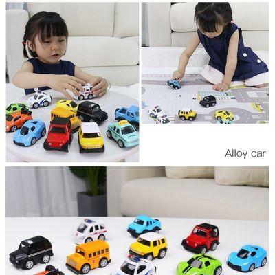 合金儿童玩具车礼物套装宝宝巴士小小车模型回力小汽车男孩0123岁