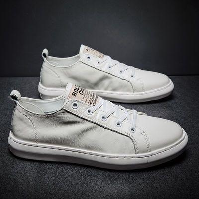 【能穿3年】真皮夏季男鞋子透气小白鞋男士休闲板鞋韩版潮流皮鞋