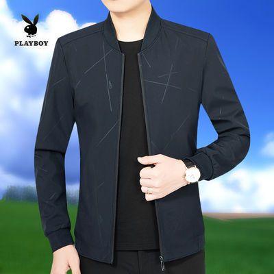 新款男士短款夹克中老年春秋季新款男士休闲外套韩版薄款帅气上衣