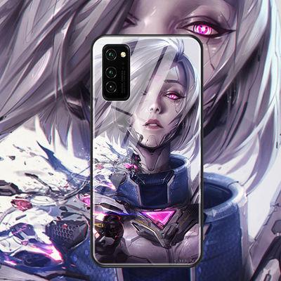 华为荣耀30s手机壳5G玻璃壳荣耀v30pro保护套play英雄联盟lol新款