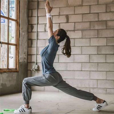 2020新款 瑜伽服运动套装女夏秋季大码透气网红健身房跑步速干显