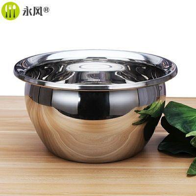 装油锅厨房家用带盖不锈钢直身盆304加厚大圆盆熟油罐粘油碗