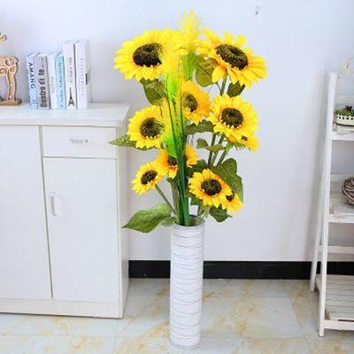 新款仿真向日葵太阳花假花绢花干花客厅卧室落地摆放花室内装饰花