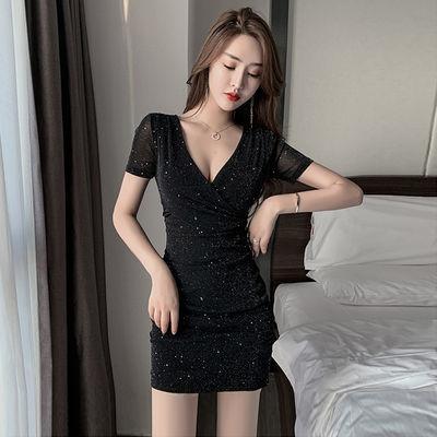 2020新款夜店性感女装显瘦收腰女人味短裙子气质紧身包臀连衣裙夏