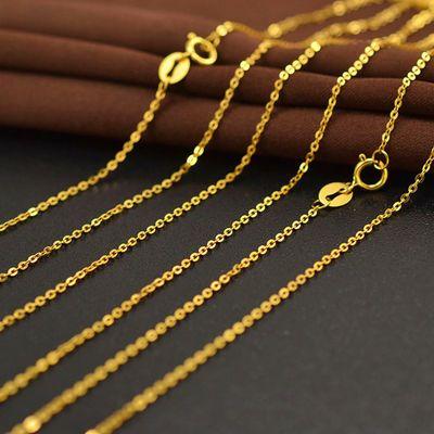 79035/清仓越南沙金女士项链细锁骨链欧币镀黄金十字o字链简约链不掉色