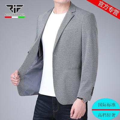 乔奇阿玛尼西装男春秋新款修身韩版单西中青年西服上衣外套男装潮