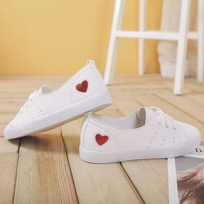 软底小白鞋女2019夏季新款韩版浅口平底休闲单鞋学生透气百搭板鞋