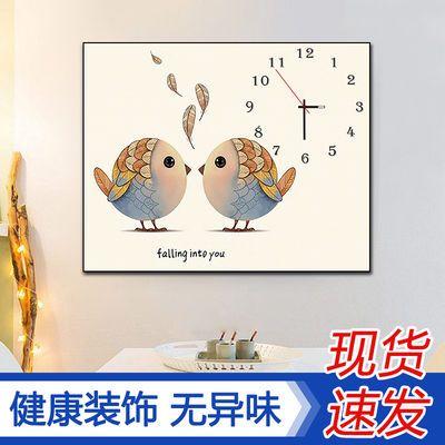现代简约客厅单幅壁画餐厅装饰画钟表电表箱装饰画创意挂钟