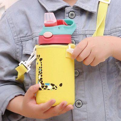 儿童杯子防摔便携学生水杯女幼儿园宝宝喝水杯吸管杯塑料运动水壶
