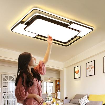 新款北欧led吸顶灯客厅灯长方形简约现代大气卧室灯书房家用灯具
