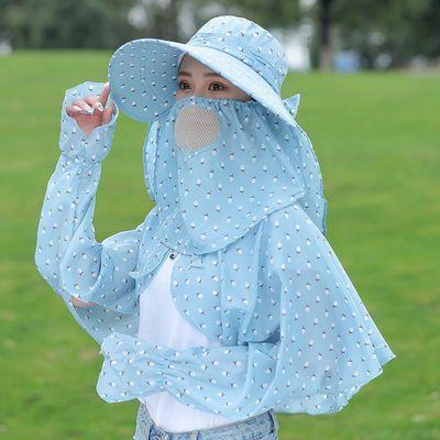 新款新品遮阳帽防晒帽子女士夏天波点防紫外线遮脸韩版百搭潮太阳