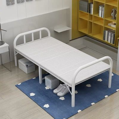 折叠床木板床家用单人床出租屋简易床午睡床成人便携午休床经济型