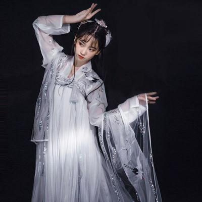 新款新品新款思无邪汉服套装女古装衣服仙女裙学生齐胸襦裙超仙中
