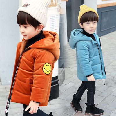 儿童外套新款男童棉服韩版4小宝宝棉衣6丽丝绒加厚外套中小童棉衣