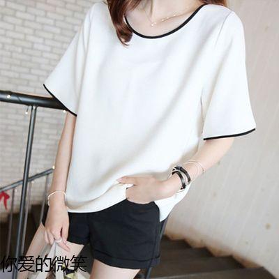9.9包邮2020韩版夏季新款显瘦女上衣大码宽松短袖T恤