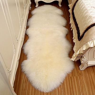 整张羊皮纯羊毛皮毛一体沙发垫羊毛地毯飘窗毯椅子垫羊皮垫子