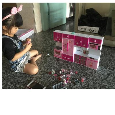 新款儿童过家家套装厨房玩具组合 仿真hellokitty宝宝做饭餐具厨