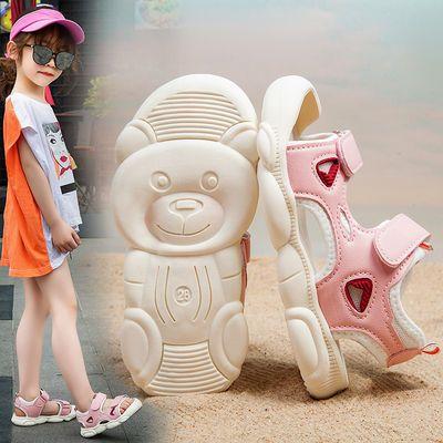 洋气男女童宝宝包头凉鞋软底2020夏新款小女孩儿童鞋中小童帅气潮