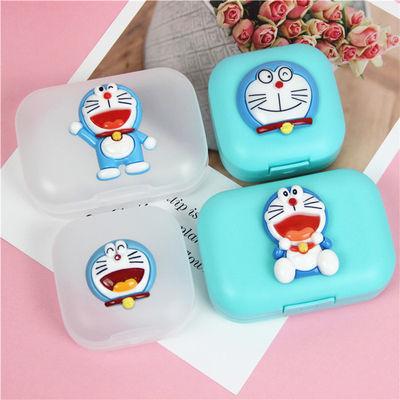 包邮卡通机器猫哆啦a梦锁扣皂盒旅行皂盒便携皂盒 小皂盒香皂盒