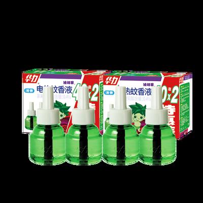 华力矮将军电热蚊香液套装 2/4/6瓶 清香型 无加热器替换装电蚊香