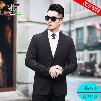 乔奇阿玛尼男装新款休闲西装中青年男士西服商务修身帅气单西外套