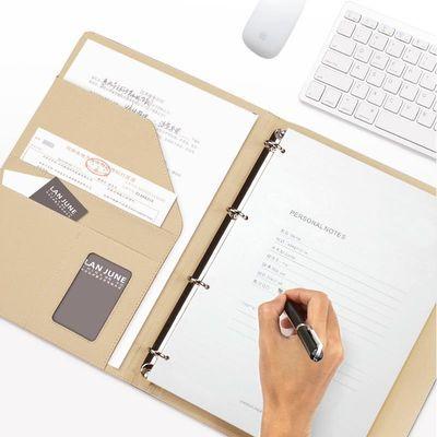 A4活页本笔记本大号会议记录本文具记事本加厚可拆商务活页夹本子