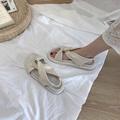厚底凉鞋女仙女风2020夏季最新款学生韩版百搭外穿增高女士松糕鞋