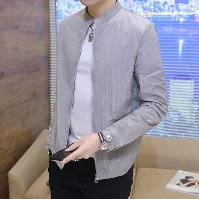 立领防晒服男士夏季新款男韩版潮流夹克外套青年薄款透气时尚百搭