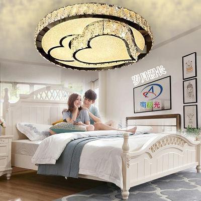 led吸顶灯主卧室灯简约现代水晶灯圆形餐厅客厅灯家用儿童房灯具