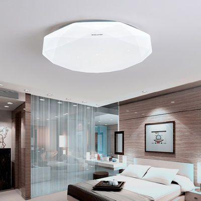 led卧室灯圆形阳台灯超亮吸顶灯简约家用节能过道灯具手机app遥控