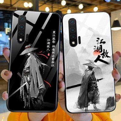 华为nova6手机壳中国风江湖故人钢化玻璃nova6se保护套古风5g新款