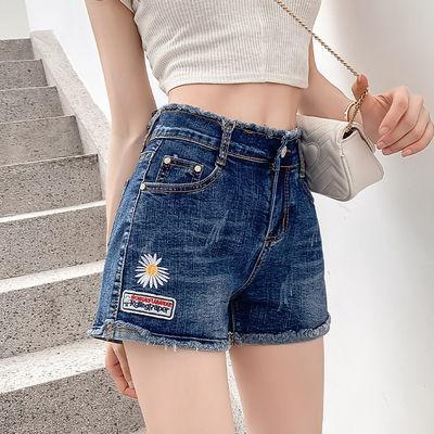 高腰牛仔短裤女夏季2020新款韩版弹力修身显瘦小雏菊百搭热裤潮