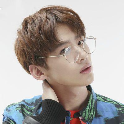 韩版潮复古小清新平光镜女文艺素颜学生眼镜框女椭圆框近视眼镜女