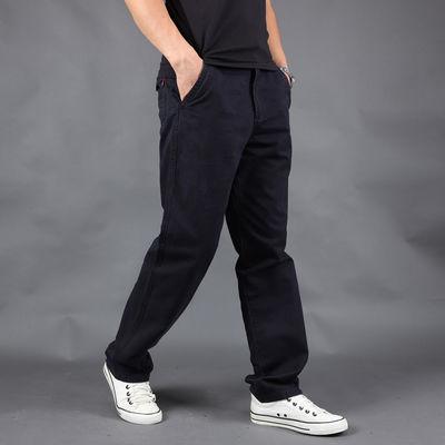 吉普盾正品男士时尚休闲裤宽松大码新款商务长裤简约西裤工装裤男