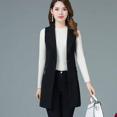 马甲女中长款2020新款韩版西装马夹背心百搭坎肩显瘦女装春秋外套