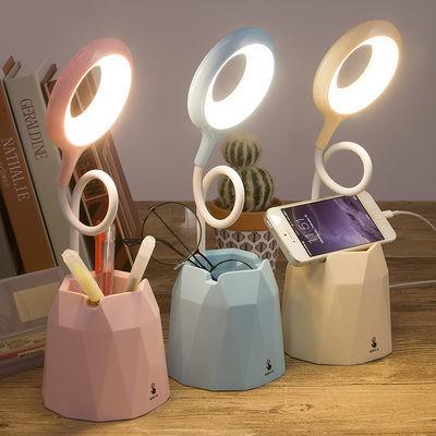 暖光可调台灯保视力护眼学习USB可充电LED宿舍看书学生阅读床头灯