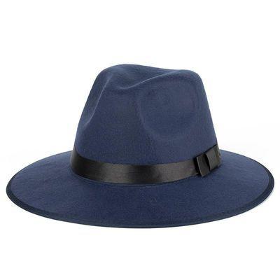 上海滩男女士黄晓明同款黑色大沿爵士礼帽许文强帽舞台表演帽子