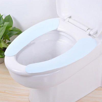 【可水洗】蓝马桶垫子冬季加厚加绒冬季新款马桶贴通用防水坐便垫