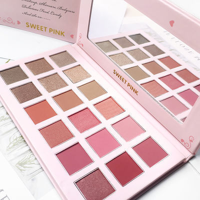 粉色安琪梦想十八色眼影盘18G色彩柔和 易上色持久不掉色粉质细腻