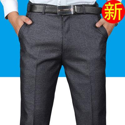 中老年人男裤夏季长裤薄款休闲裤中年男装男士西裤春秋季爸爸裤子