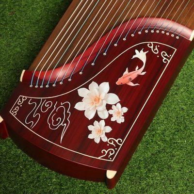 古筝儿童初学专业考级演奏成人实木琴教学琴练习琴