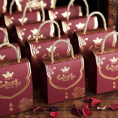 中式喜糖盒子批发结婚用品喜糖盒婚礼糖果礼盒喜糖袋子创意糖盒子