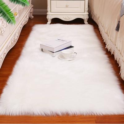 长毛绒地毯客厅家用卧室床边毛毛毯子橱窗白色仿羊毛飘窗地垫定制