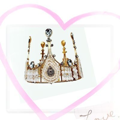 蕾丝水晶生日烘焙王冠大圆儿童新娘女王头饰皇冠蛋糕装饰包邮