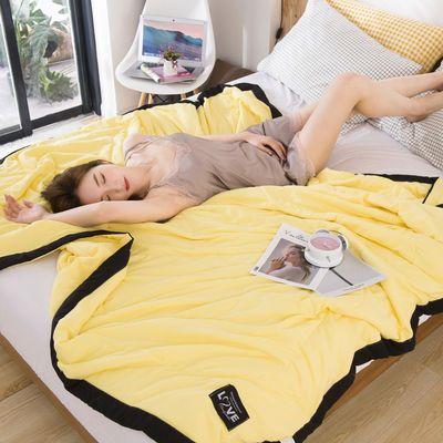 韩式亲肤水洗棉夏季空调被单人学生薄被子可水洗机洗双人夏凉被芯